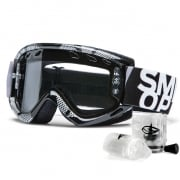 Smith Fuel V.1 Max Enduro Goggles - Black Silver Static