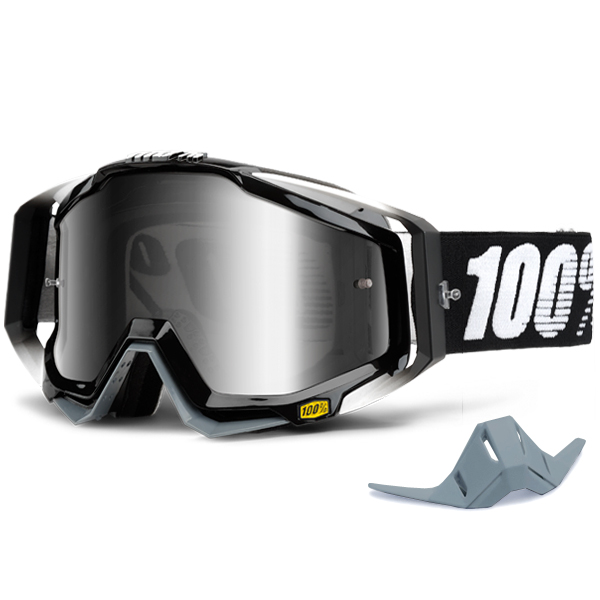 100 Racecraft Goggles Abyss Black Mirror Lens