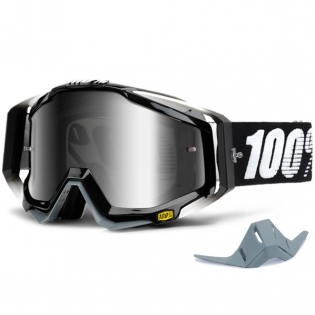100% Racecraft Goggles - Abyss Black Mirror Lens