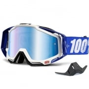 100% Racecraft Goggles - Cobalt Blue Mirror Lens