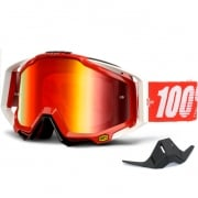 100% Racecraft Goggles - Fire Red Mirror Lens