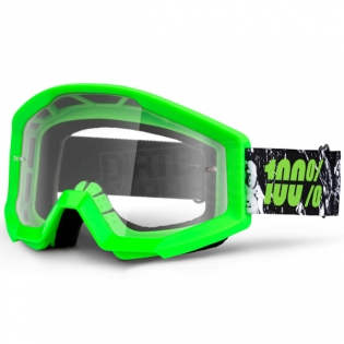 100% Strata Goggles - Crafty Lime Clear Lens