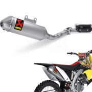 Akrapovic Stainless Exhaust System - Suzuki RMZ 250 2010-Current