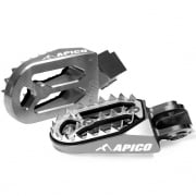 Apico Pro Bite Anodised Wide Foot Pegs - Honda Titanium