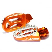 Apico Pro Bite Anodised Wide Foot Pegs - KTM Orange