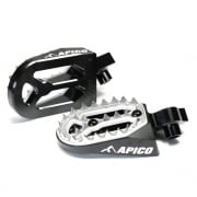 Apico Pro Bite Anodised Wide Foot Pegs - Suzuki Black
