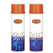Twin Air 500ml Spray Dirt Remover & Power Filter Oil Twin Pack