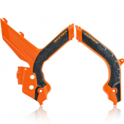 Acerbis KTM X-Grip Frame Guards - Orange