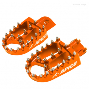 Apico Xtreme Anodised Wide Foot Pegs - Husqvarna Orange