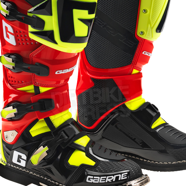Gaerne Boots Sg12 >> 2015 Gaerne SG12 Boots | Limited Edition Red Black Yellow | Dirtbikexpress™