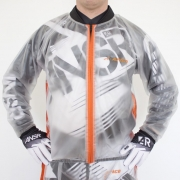 Apico Clear Rain Jacket - Clear Orange