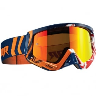 Thor Sniper Goggles - Geo Navy Orange Red