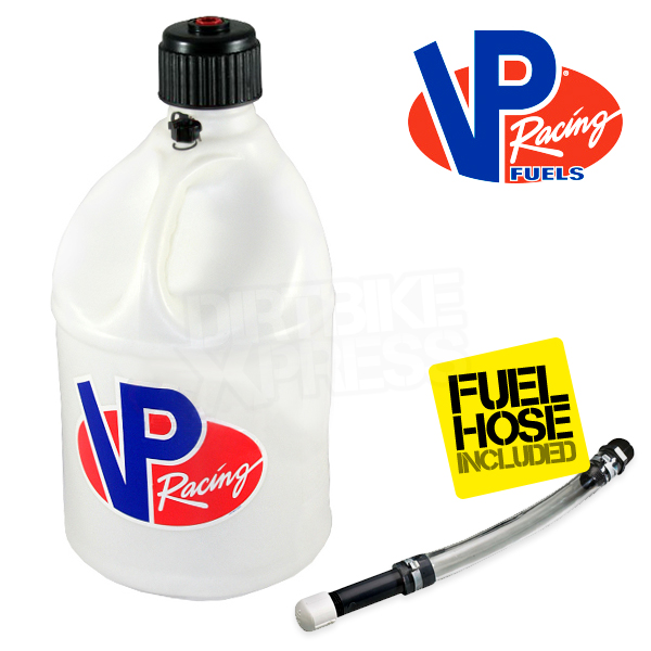 VP Racing Round Fuel Can - White