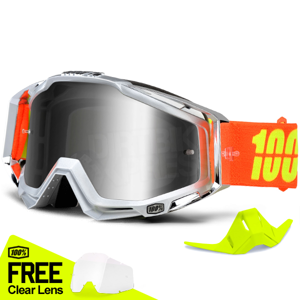 06cd14838aa ... 100% Racecraft Goggles - Airstream Mirror Lens Limited Edition Image 4.  Enlarge Watch Video