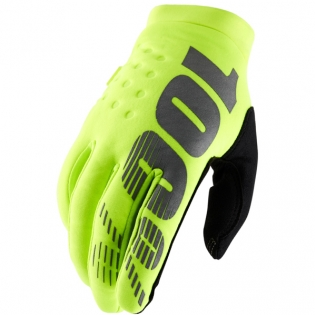 100% Brisker Cold Weather Gloves - Neon Yellow
