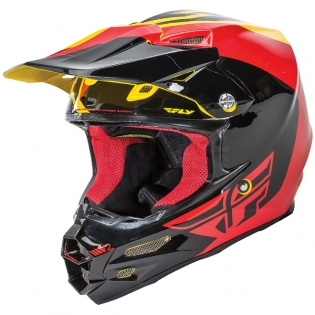2017 Fly Racing F2 Carbon Helmet - Pure Yellow Black Red