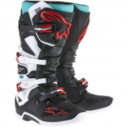 Alpinestars Tech 7 Boots - Black White Cyan