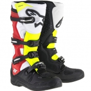 Alpinestars Tech 5 Boots - Black Red Fluo Yellow