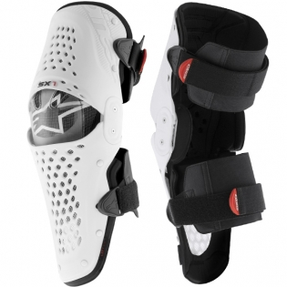 Alpinestars SX1 Knee Guards - White Black