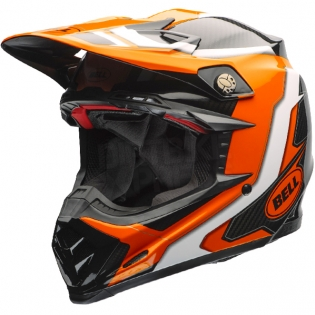 Bell Moto 9 Carbon Flex Helmet - Factory Orange Black