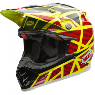 Bell Moto 9 Carbon Flex Helmet - Strapped Yellow Red
