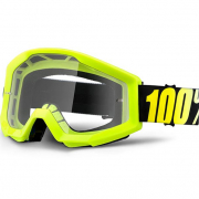 100% Strata Kids Goggles - Neon Yellow Clear Lens