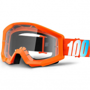 100% Strata Kids Goggles - Orange Clear Lens