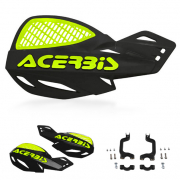 Acerbis MX Uniko Vented Handguards - Black Fluo Yellow