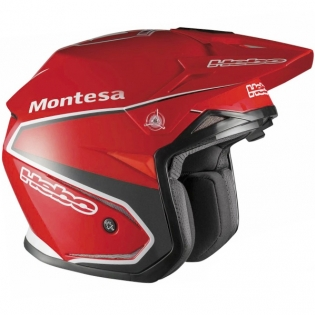 Hebo Zone 5 Polycarb Trials Helmet - Replica Montesa Classic