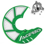 Acerbis X-Brake Front Vented Disc Protector Green - Including Mount