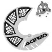 Acerbis X-Brake Front Vented Disc Protector White - Including Mount