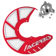 Acerbis X-Brake Front Vented Disc Protector Red - Including Mount