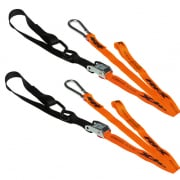 Race FX Race Series 1.0 Tie Downs - Orange Black (Pair)