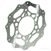 RFX Race Series Kawasaki Front Wavey Brake Disc - Green