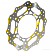 RFX Race Series Suzuki Front Wavey Brake Disc - Yellow