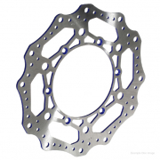 RFX Race Series Husqvarna Front Wavey Brake Disc - Blue