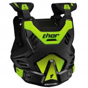 Thor Kids Sentinel GP Body Armour - Black Green