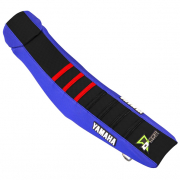 D Cor Yamaha Gripper Factory Rib Seat Cover - Blue Black Red