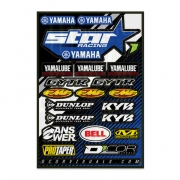 D Cor Universal Yamaha Star Racing Team Logo Sticker Sheet