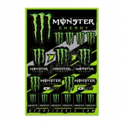 D Cor Universal Monster Energy Logo Sticker Sheet