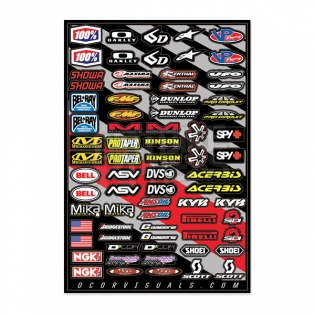 D Cor Universal Misc MX Logos 2 Sticker Sheet