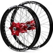 SM Pro Platinum Motocross Wheel Set - Honda Red Black Silver