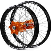 SM Pro Platinum Motocross Wheel Set - KTM Orange Black Silver