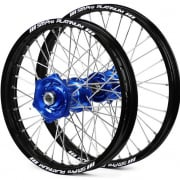 SM Pro Platinum Motocross Wheel Set - Husqvarna Blue Black Silver