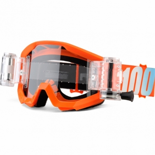 100% Strata Mud Goggles - Orange SVS Clear Lens