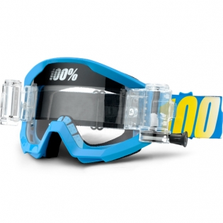 100% Strata Mud Goggles - Blue SVS Clear Lens