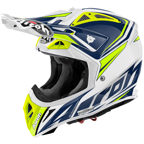 2017 airoh aviator 2 2 helmet ready blue dirtbikexpress. Black Bedroom Furniture Sets. Home Design Ideas