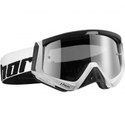Thor Sniper Goggles - Carbon Black White
