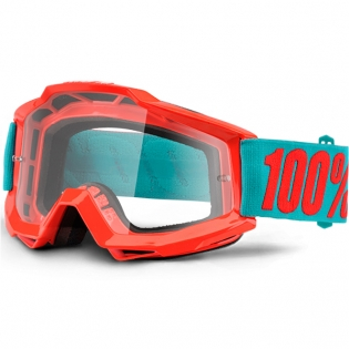 100% Accuri Kids Goggles - Passion Orange JR Clear Lens