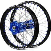 SM Pro Platinum Motocross Wheel Set - Husqvarna Blue Black Blue